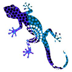 Cheerful polka dots and a playful gecko shape define the style of the three pieces of art in the Next Innovations Gecko Dahlia Wall Art - Set of 3 . Wall Art Sets, Wall Art Decor, Cameleon Art, Gecko Tattoo, Lizard Tattoo, Colorful Lizards, Salamander, Mundo Animal, Aboriginal Art