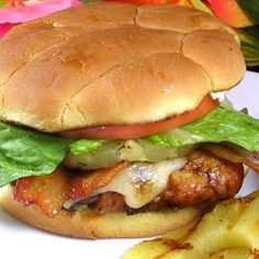 "Aloha Chicken Burgers | ""This is AMAZING! My husband and I were in heaven while we were eating these. I think they will be a once a week item now."""