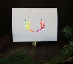 Step into the holiday season with some modern and sassy vibes. These antler Greeting cards come in a variety of foil stamp options; Gold, Copper, and