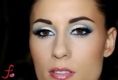 Soft blue eye shadow for brown eyes