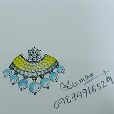 This is my new design...white and yellow stone communication...stud..!