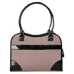 Pet Life Exquisite Handbag Fashion Pet Carrier - Herringbone with Black Trim | from hayneedle.com