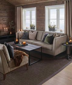 Classic Home Decor .Classic Home Decor Classic Home Decor, Fall Home Decor, Unique Home Decor, Home Living Room, Living Spaces, Cheap Dorm Decor, Cabin Interiors, Home And Deco, Log Homes