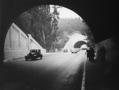 Pedestrians walking the Figueroa Street Tunnels before it became the northbound 110 freeway (circa 1937).