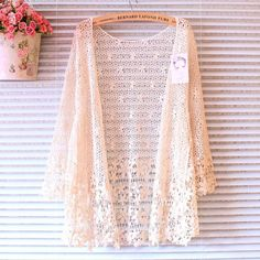 AtelierLily Front-Ties Crochet Floral Cardigan Crochet Lace Floral... ($23) ❤ liked on Polyvore featuring tops, cardigans, outerwear, jackets, white, women's clothing, crochet lace top, short-sleeve cardigan, white cardigan and white summer cardigan
