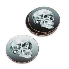 Halloween Skull Coasters, Set of 4 | Williams-Sonoma