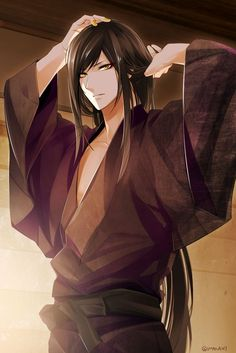 Find images and videos about anime, kawaii and long hair on We Heart It - the app to get lost in what you love. Hot Anime Boy, Anime Boys, Chica Anime Manga, Cute Anime Guys, Manga Boy, Touken Ranbu, Badass Anime, Susanoo, Handsome Anime Guys