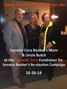 It was great creating a tea party for this fundraiser event that Lisadenise Rick hosted for Senator Cory Booker's Re-election Campaign.  An exquisite gourmet tea setup.  Everyone loved it. Senator Booker's Mom and Uncle.  What a pleasure to have setup this tea party for them and his supporters.