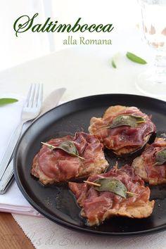Saltimbocca alla romana, rapidi e semplici da realizzare per cambiare il gusto alla solita fettina di carne. Serviti con della verdura, cotta o cruda.