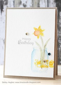 Handmade Card Stampers Watercolor Technique Paper