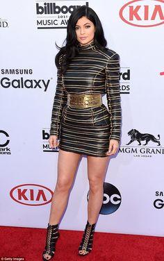 Kylie Jenner wearing Balmain for H&M