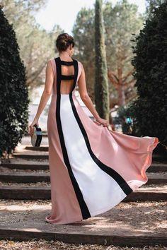 Vestido largo de invitada boda color rosa con escote espalda y Long Summer Dresses, Evening Dresses, The Dress, Dress Skirt, Cute Dresses, Casual Dresses, Dress Outfits, Fashion Dresses, Nouveau Look
