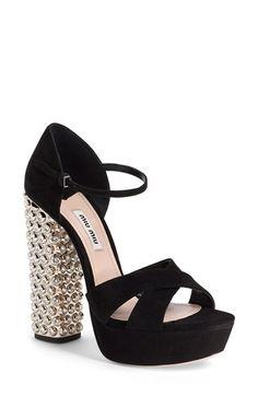 Miu Miu Jeweled Platform Sandal (Women) available at #Nordstrom