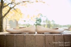 beautiful wedding shoes, wedding flats, sparkle shoes, wedding fashion, bridal fashion, wedding photography :: Abby + John's Wedding at 173 Carlyle House in Norcross, GA :: with Tyler