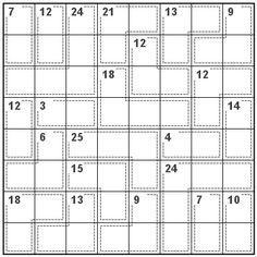 Number Logic Puzzles: 20760 - Killer size 8