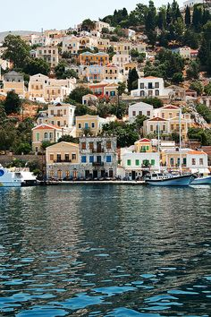 Symi, Greece. For luxury hotels in Greece visit http://www.mediteranique.com/hotels-greece/