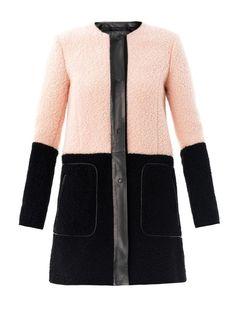 Drome Bi-colour shearling coat on shopstyle.com