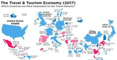 Mapped: The World's Dependency on the Travel Industry