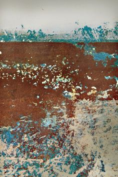 ARTFINDER: Japanese Sea by Hannah Cawthorne - This is an photograph I took in Teignmouth, UK, of the side of an old fishing boat. The paint has been scratched away over years of use, creating a story beh...