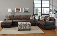 4 Pcs Sectional Sofa Set in double Trim Suede/faux Leather (Sofa,loveseat,chaise,ottoman) W/accent Pillow by Hollywood Decor, http://www.amazon.com/dp/B00BA80DNA/ref=cm_sw_r_pi_dp_Wbbrrb1HXT8YW