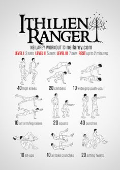 When you're all that stands between the forces of Darkness and Light, when you're looked upon to be the tipping point in a battle against Orcs, you'd better make sure your body's a lethal weapon. This is a workout designed to give you strength,...