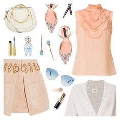 Monte Carlo Travel Outfit by sproetje on Polyvore featuring polyvore fashion style Prada Le Kasha Chloé Rochas Christian Dior Clé de Peau Beauté AERIN Bobbi Brown Cosmetics Marc Jacobs clothing montecarlo WearIt outfitsfortravel fancyflats