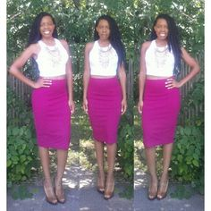 Crop Top with a Pencil Skirt