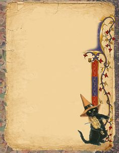 Witch Black Cat page by Grim, scrapbook, art journal, Book of Shadows