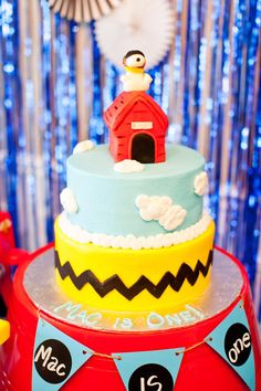 """Snoopy Flying Ace 1st Birthday Party - """"Mac is One!"""""""