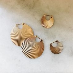 Large and small Shell earrings