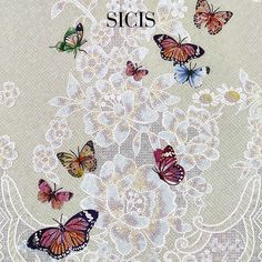 Butterflies fly off the wall - #Sicis Diamond Collection transfoms #mosaic concept into a tridimensional #artwork.