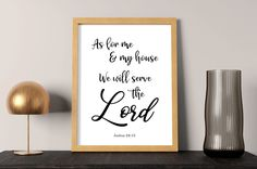 As for me and my house We will serve the Lord Joshua 24:15   Bible verse wall art, Scripture wall art, or great Christian housewarming gift by SmallMiraclePrints on Etsy