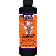 NOW Organic Flax Seed Oil (100% Pure) 12 fl.oz