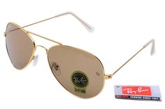 Ray-Ban Aviator 3025 Gold Frame Brown Lens RB1008