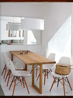 Salle à manger et table en bois sur mesure, chaises esprit scandinave - Déco