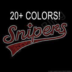 Rhinestone Iron-On Transfer Snipers Bling - Baseball 84e87935f190