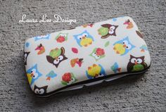 Tossed Owls Boutique Style Travel Wipe Case by LauraLeeDesigns108, $8.00