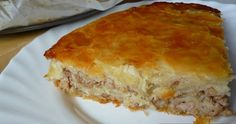 Pie with minced meat and cheese-for recipe visit :  http://www.myrecipesforyou.com/pie-minced-meat-cheese/