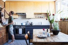 Peter and Sebastien bought this half-renovated Edwardian terraced house in Brighton, and transformed it into a stylish home filled with vintage finds and upcycled projects