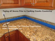 Smoothing Caulk With Finger | Re Caulking Granite Countertop | Pinterest |  Granite