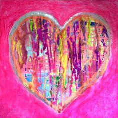 "Saatchi Art Artist tracy clark; Painting, ""Love heart"" #art"