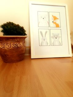 Animals nursery kids wall decor -home made & hand made