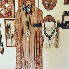 Kimonos and jewelry double as the perfect decor!