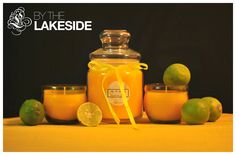 Lemon scented jars and votives! #ByTheLakeside