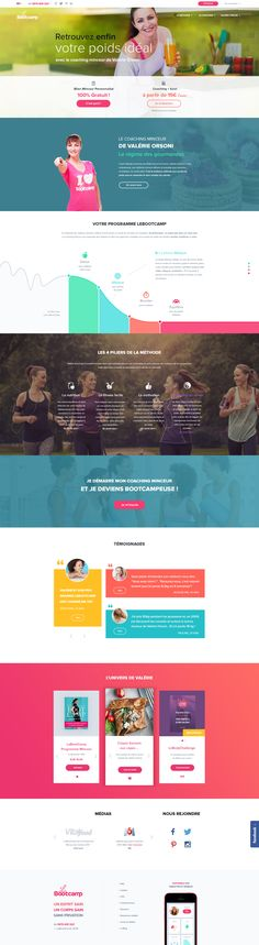 LeBootCamp.com - New design 2016 - Fitness - Sport - Coaching - Webdesign - UI - UX - Responsive Valerie Orsoni, Coaching, Web Design, Fitness Sport, Motivation, Ui Ux, Wealth, Website, Brand Management
