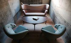 Hotel Hakuba: A Japanese Ski Lodge for Scandi Design Fanatics - Remodelista Cool Furniture, Furniture Design, Baker Furniture, White Washed Floors, White Walls, Danish Design Store, Wallpaper Magazine, Design Within Reach, Interior Exterior