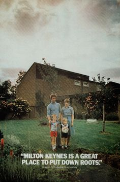 Poster advertising the new town of Milton Keynes, 1970s (via @livingarchive1)