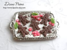Old Fashioned Dollhouse Miniature Gingerbread Cookies by dpaone, $22.00