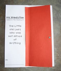 Prediction Activity to Go With Book, The Little Old Lady Who Was Not Afraid of Anything by Linda Williams