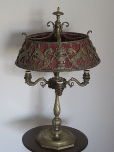 Stunning & Rare Antique French Lamp Bouillotte With Cut Bronze Lamp Shade on Etsy, $990.00